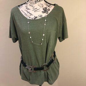 J. crew luxury TShirt. Large. army green